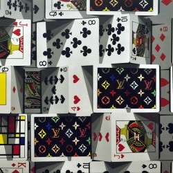 The tower of card _194.0x97.0cm oil on canvas 2018